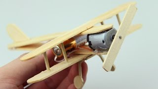 How to Make A Plane With DC Motor - Toy Wooden Plane DIY