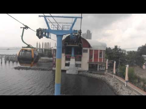 Ancol Dreamland Cable Car Ride, Jakarta Bay, Indonesia