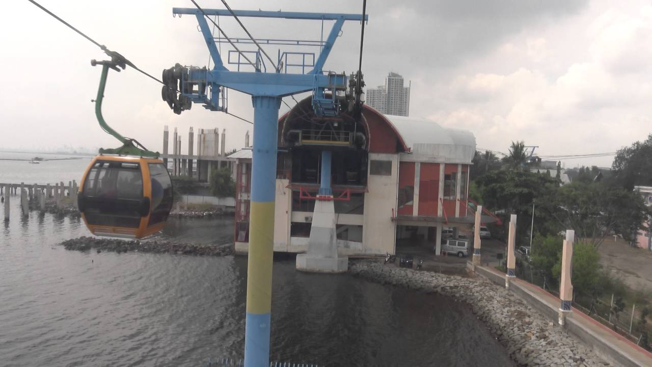 Ancol Dreamland Cable Car Ride Jakarta Bay Indonesia