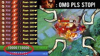 OMG 10.000 HP Delete SF Mid Crazy Raid Boss Pudge Epic Battle Game Dota 2