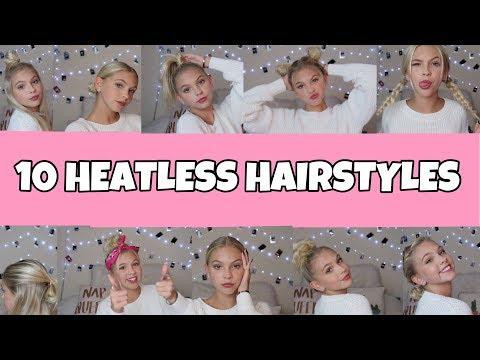 10 EASY HEATLESS HAIRSTYLES!