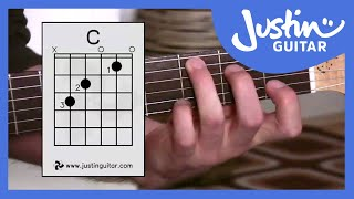 c chord guitar for beginners stage 3 guitar lesson justinguitar bc 132