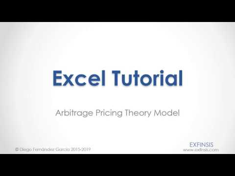 Excel Tutorial. APT Arbitrage Pricing Theory Model