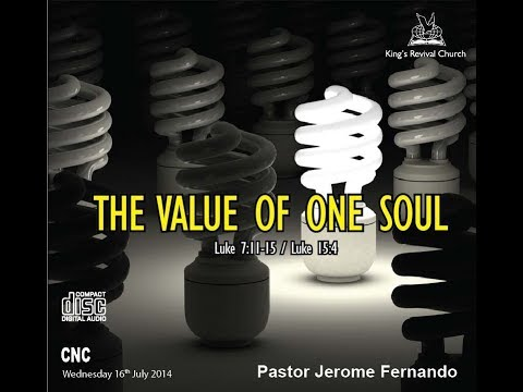 Pastor Jerome Fernando - Spiritual Growth - The Value Of One Soul ...