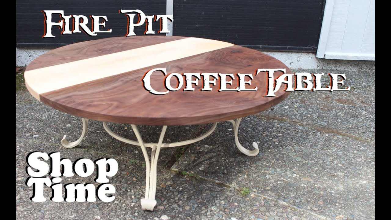reclaimed fire pit coffee table - youtube