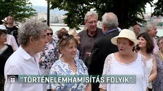 Civilek tiltakoztak: történelemhamisítás folyik 19-06-17
