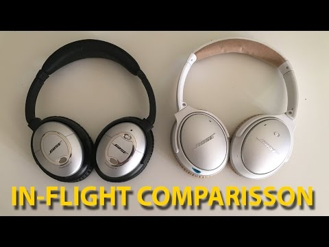 I made an In-Flight Comparisson Between QC 15 and QC25 : headphones