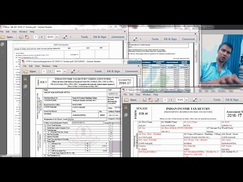 How to file income tax return online for AY 2016 17 - MY OWN TAX RETURN FILED LIVE!