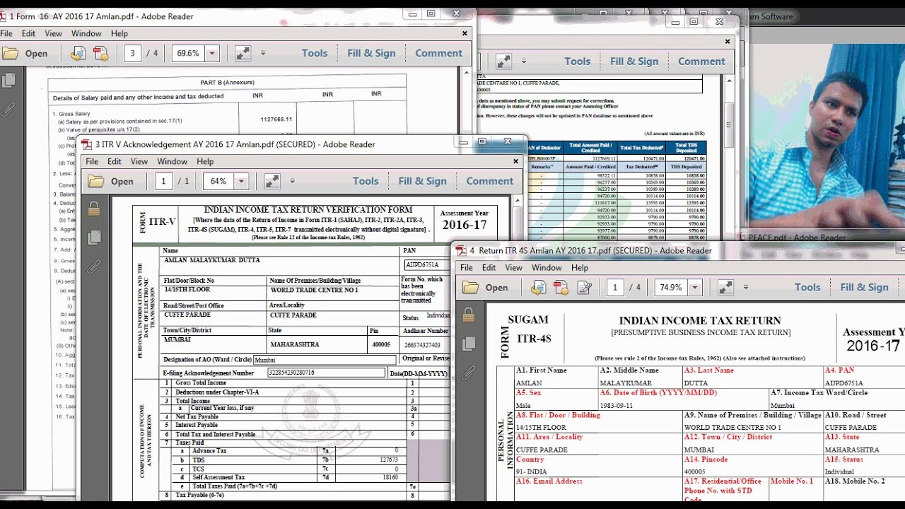 How To File Income Tax Return Online  Ay 2016 17  My Own Tax Return Filed  Live!