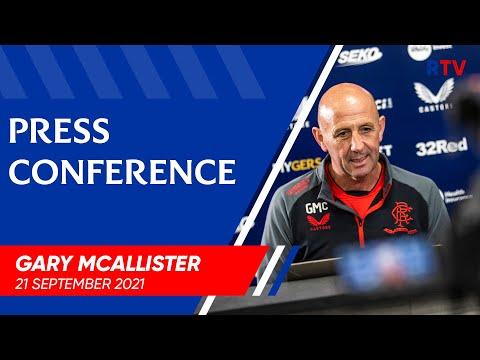 PRESS CONFERENCE | Gary McAllister | 21 Sep 2021