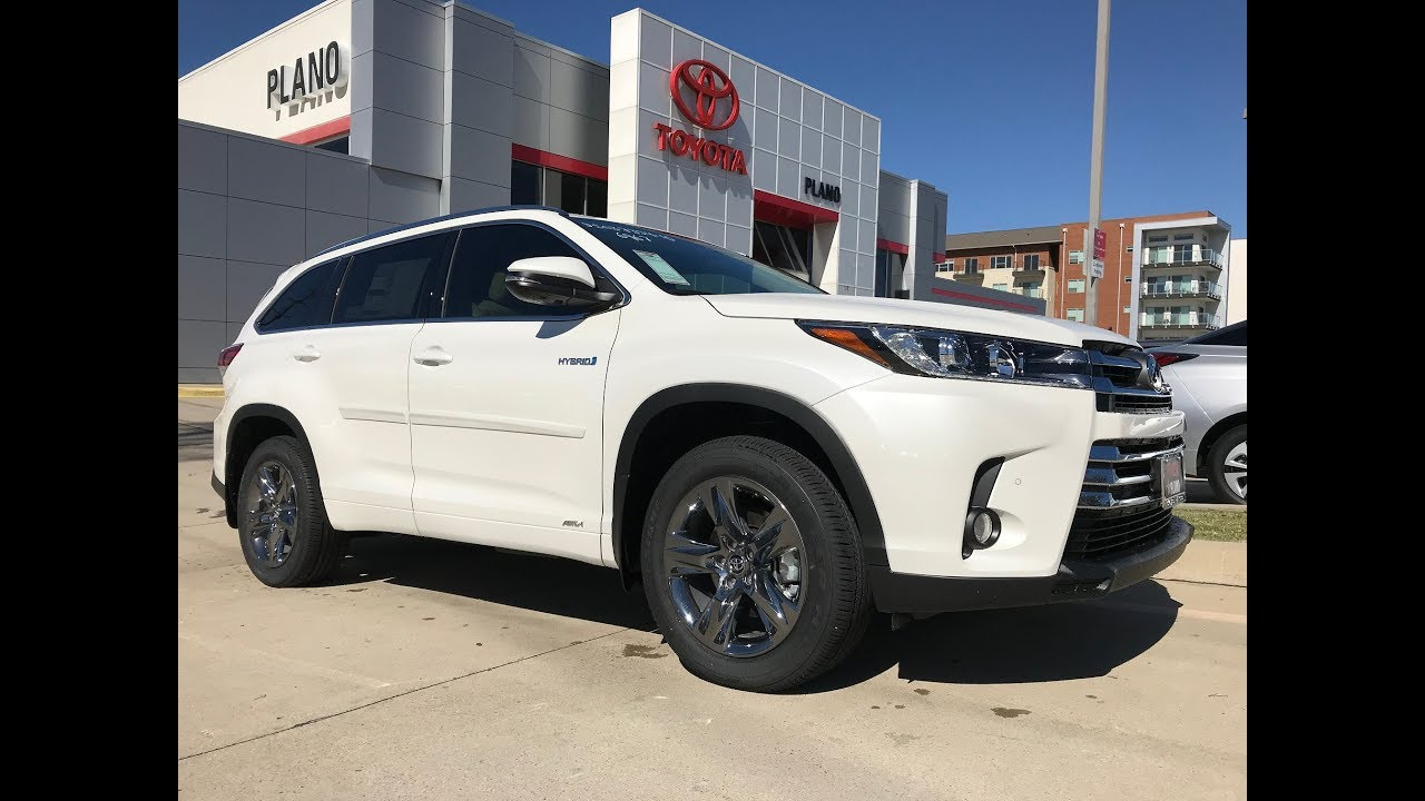Toyota Blizzard Pearl >> 2018 TOYOTA Highlander Limited Platinum in Blizzard Pearl with Ivory interior - YouTube