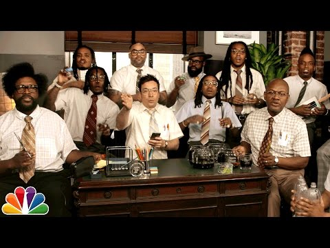 "Thumbnail: Jimmy Fallon, Migos & The Roots Sing ""Bad and Boujee"" (w/ Office Supplies)"