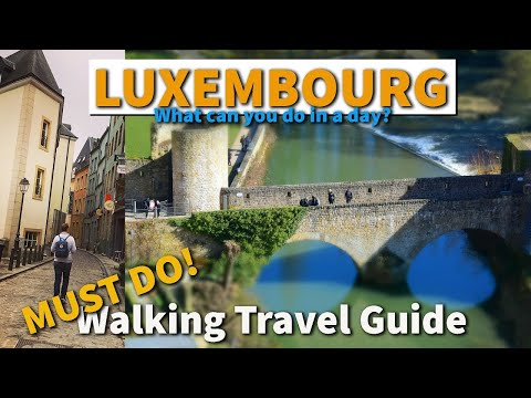 Luxembourg Things to do | WALKING TOUR | Luxembourg