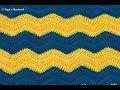 Crochet Ripple Baby Blanket-Chevron Baby Blanket in English-Crochet Wave Blanket-Zig Zag Blanket