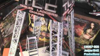 Jeeper's Wrestling Figure Close-ups: Wwe Mattel Tables/ladders/chairs Tlc Playset Ring Review Hd
