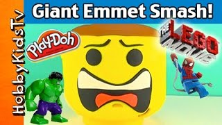 Play-Doh Giant Lego Head EMMET Makeover thumbnail