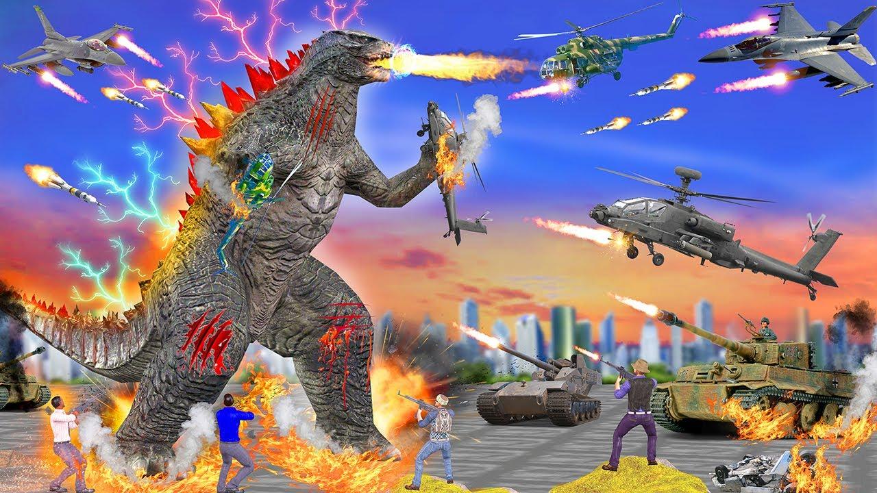 गॉडज़िला हेलीकॉप्टर Godzilla Helicopter Chase Hindi Kahaniya New Kahani हिंदी कहानियां Naya Kahani