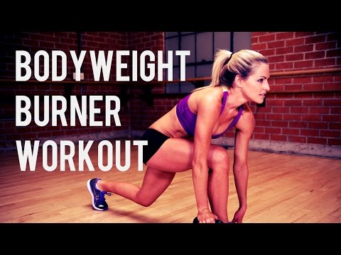 35 Minute Bodyweight Burner Workout----HIIT for Strength and Cardio
