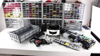 Behind the MOC Lego Technic Dump Truck 8x8
