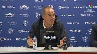 Rueda de prensa de Víctor Fernández tras el SD Huesca vs Real Zaragoza (2-1)