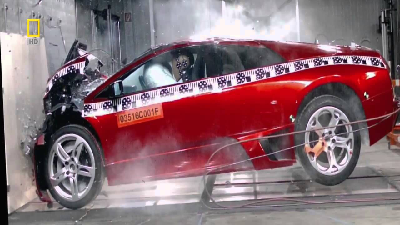 lamborghini murcielago crash test hd - youtube