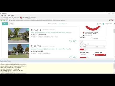 Scraping Real Estate data from Forsalebyowner.com using Webharvy