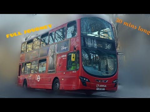 FULL JOURNEY. Route 349. Stamford Hill - Ponders End Bus Garage. LJ11AEX. DW407. Arriva LDN DB300 G2