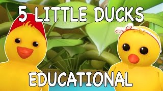 5 Little Ducks | Nursery Rhymes | Kid Songs| Baby Songs| Counting