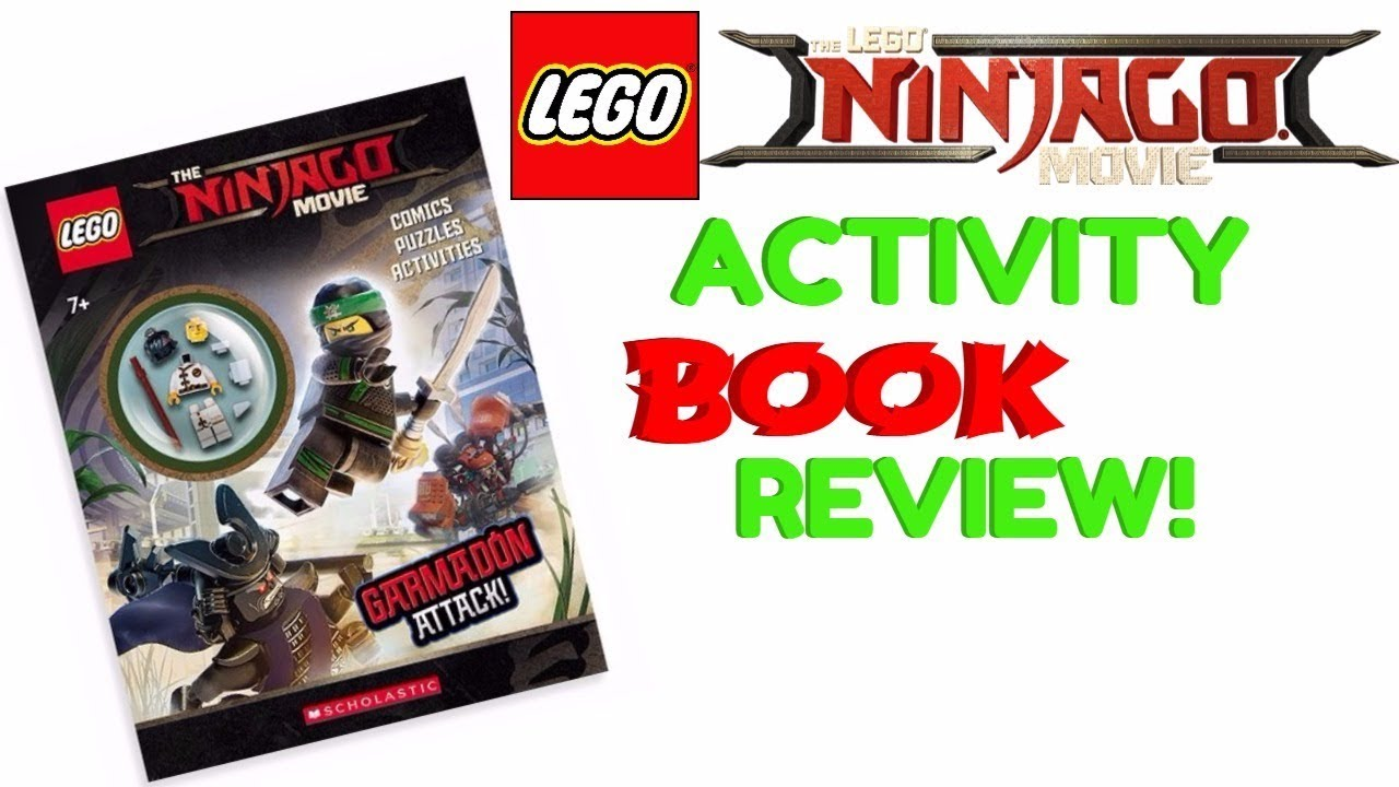 LEGO NINJAGO MOVIE! Activity Book Review! with Cole Minifigure!