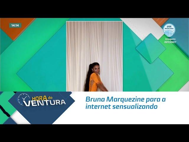 Bruna Marquezine para a internet sensualizando em novo desafio da internet