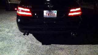 mercedes benz w212 e350 remus quad exhaust