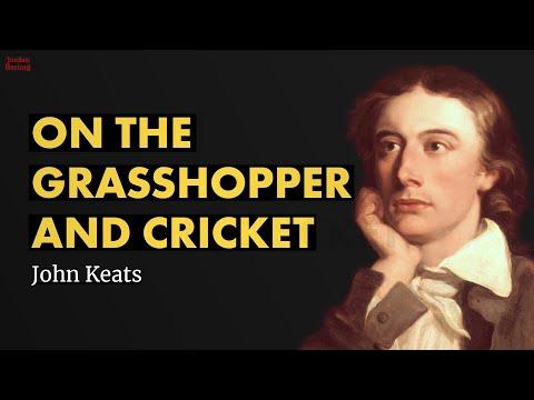 On The Grasshopper And Cricket  John Keats poem reading  Jordan Harling Reads