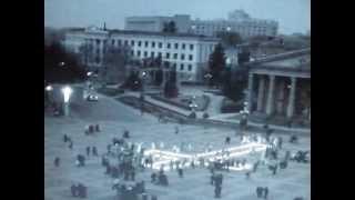 Хрест зі свічок у Тернополі 24 листопада