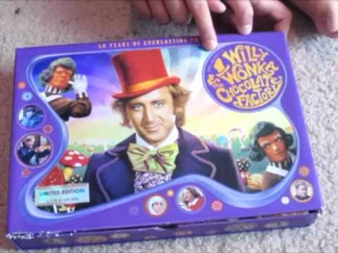 Willy Wonka 40th Box Set DVD Unboxing