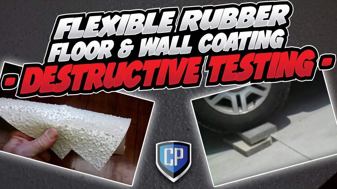 Flexible Rubber Floor U0026 Wall Coating   Destructive Testing