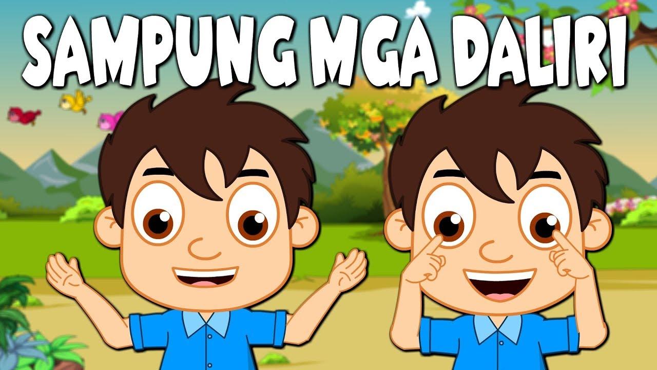Download SAMPUNG MGA DALIRI   Awiting Pambata Tagalog   TEN FINGERS Tagalog Nursery Rhymes