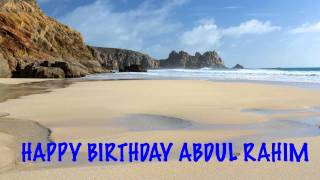 AbdulRahim   Beaches Playas - Happy Birthday