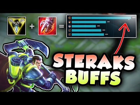 STERAKS GAGE BUFFS MAKES THIS DARIUS BUILD BROKEN! NEW TRIFORCE DARIUS TOP BUILD - League of Legends