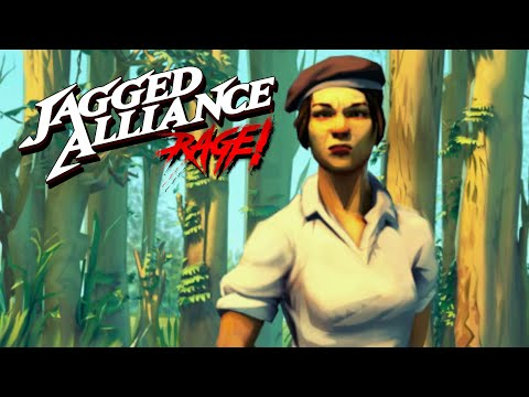 Jagged Alliance: Rage - Controllable Rebel Squad & Mad Scientist in the Research Lab |