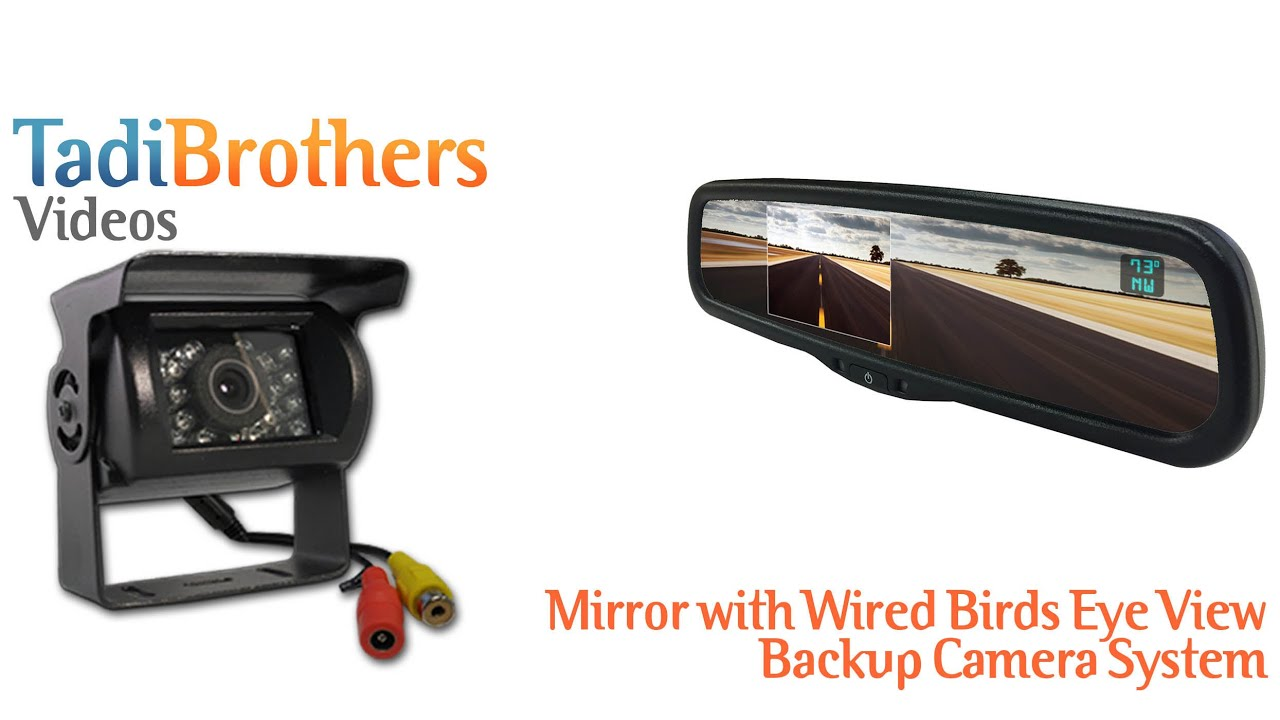 Full Mirror replacement with Wired RV Box Backup Camera Systems from ...