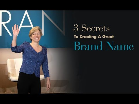 3 Secrets to Creating a Great Brand Name