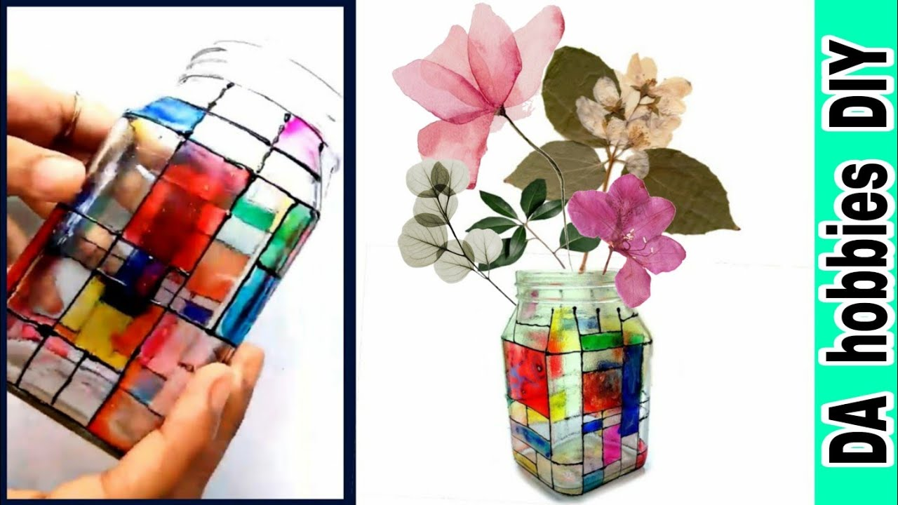 Glass Painting On Jars Diy With Arcylic