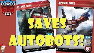 Optimus Prime Saves Your Autbots in the Transformers TCG! (Optimus Prime Freedom Fighter)