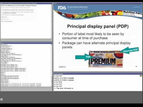 CFSAN/JIFSAN Food and Nutrition Webinar - Overview of Food Labeling Requirements