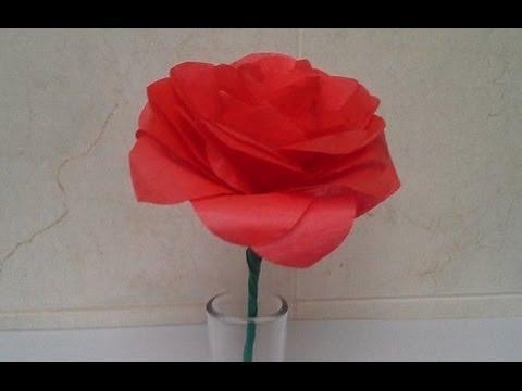 Como hacer una rosa de papel viyoutube - Como secar una rosa ...