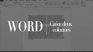 WORD : Séparer un texte en deux colonnes / ligne séparatrice