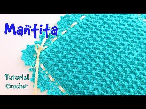 Como tejer una Mantita o Cobija en Punto Relieve a crochet - ganchillo