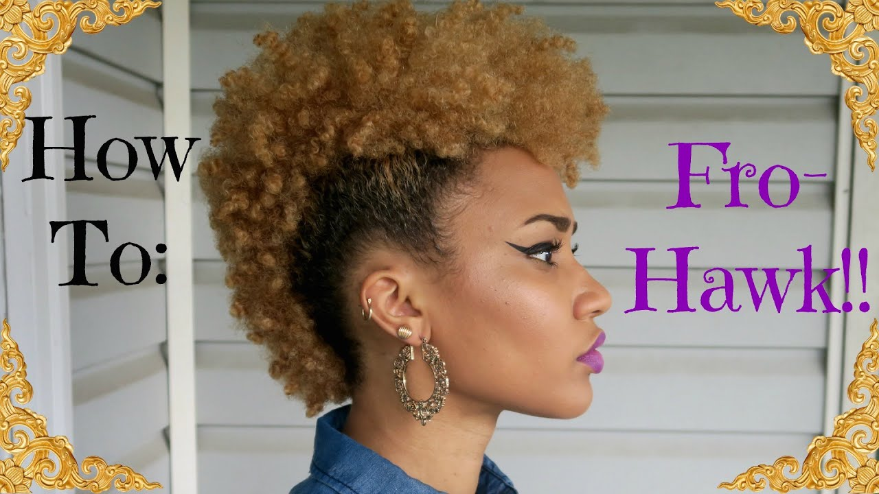 How To Quot Frohawk Quot Mohawk On 4b Natural Hair Youtube