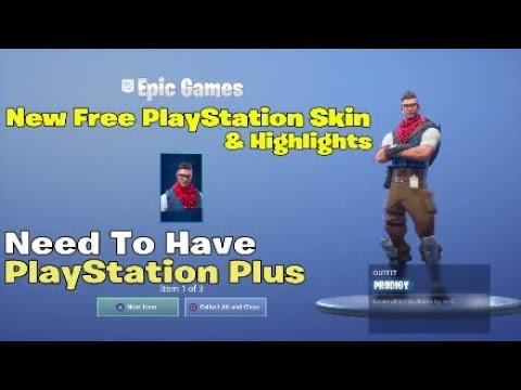 New Free PlayStation Plus Skin & Highlights | Fortnite