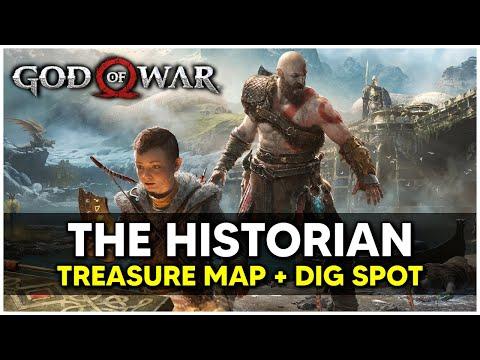 God Of War - The Historian Treasure Map + Dig Spot Locations